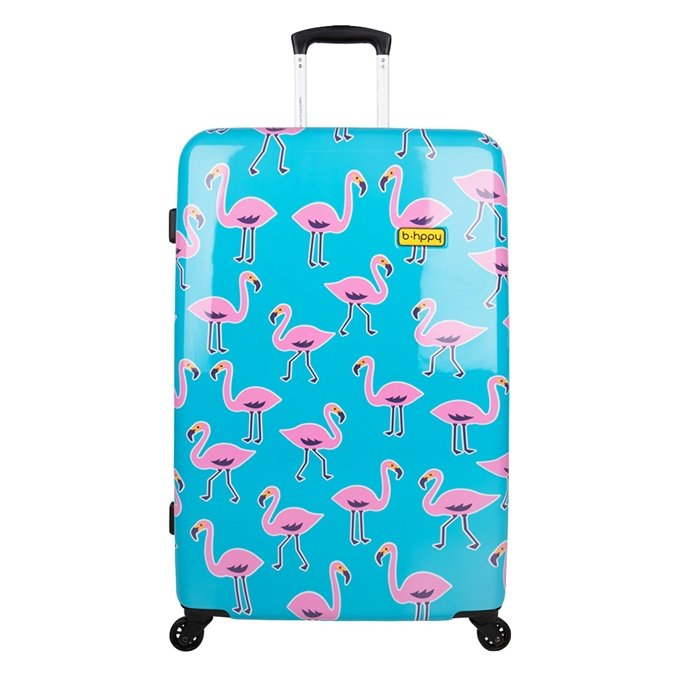 Bhppy Go Flamingo Trolley 77 blue / pink - 1