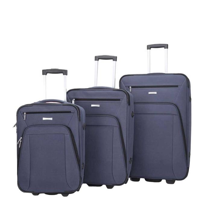 Decent Basic Line 3-delige Kofferset d.blauw - 1