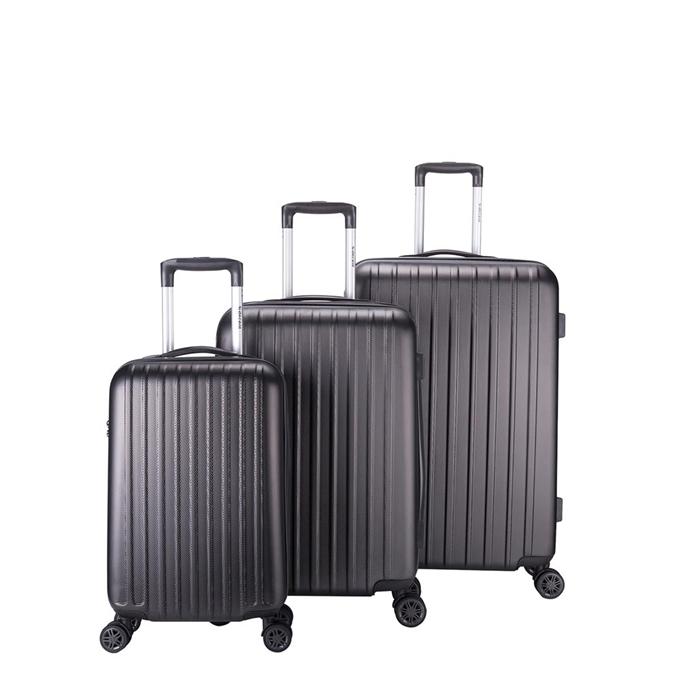 Decent Tranporto One 3-delige Kofferset antraciet - 1
