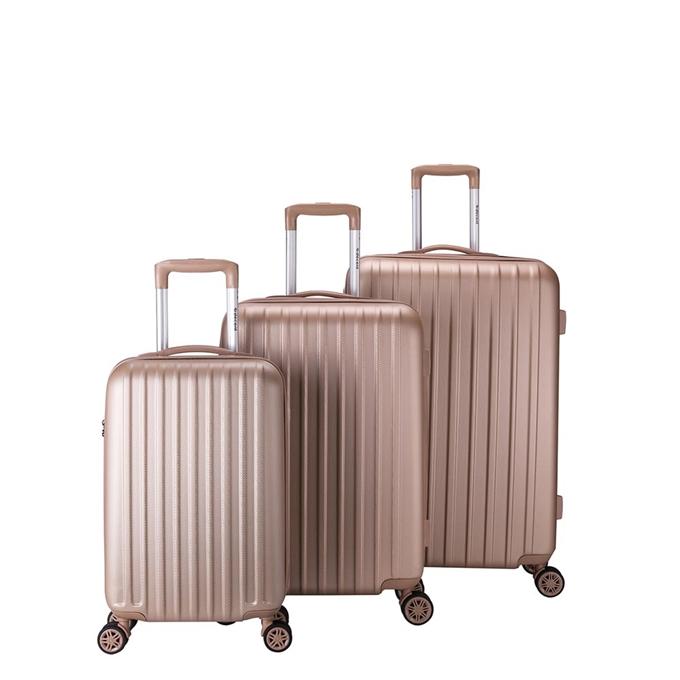Decent Tranporto One 3-delige Kofferset zalm - 1