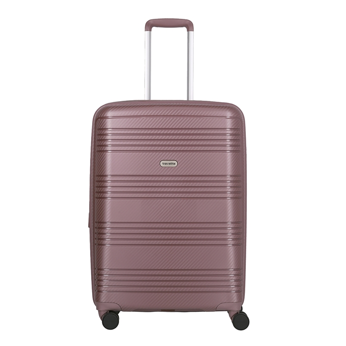 Travelite Zenit 4 Wiel Trolley M Expandable dark rose - 1
