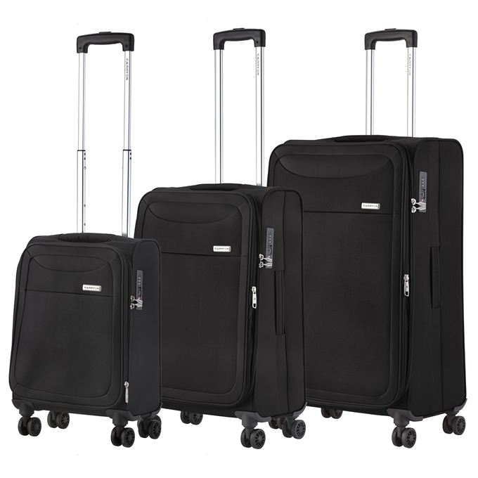 CarryOn Air Trolleyset 3pcs black - 1