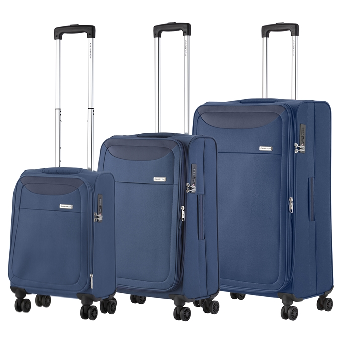 CarryOn Air Trolleyset 3pcs steel blue - 1