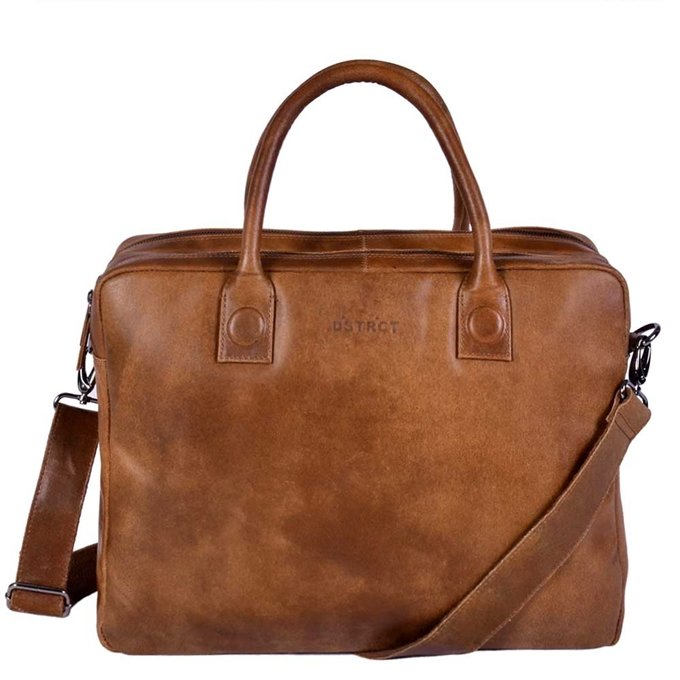 "DSTRCT Fletcher Street Workingbag 15.6"" cognac"