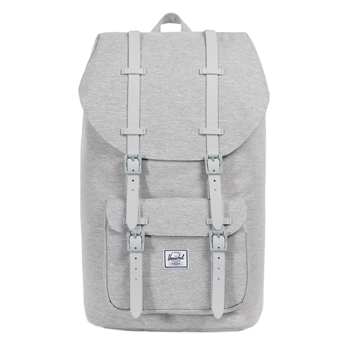 Herschel Supply Co. Little America Rugzak light grey crosshatch/grey rubber - 1