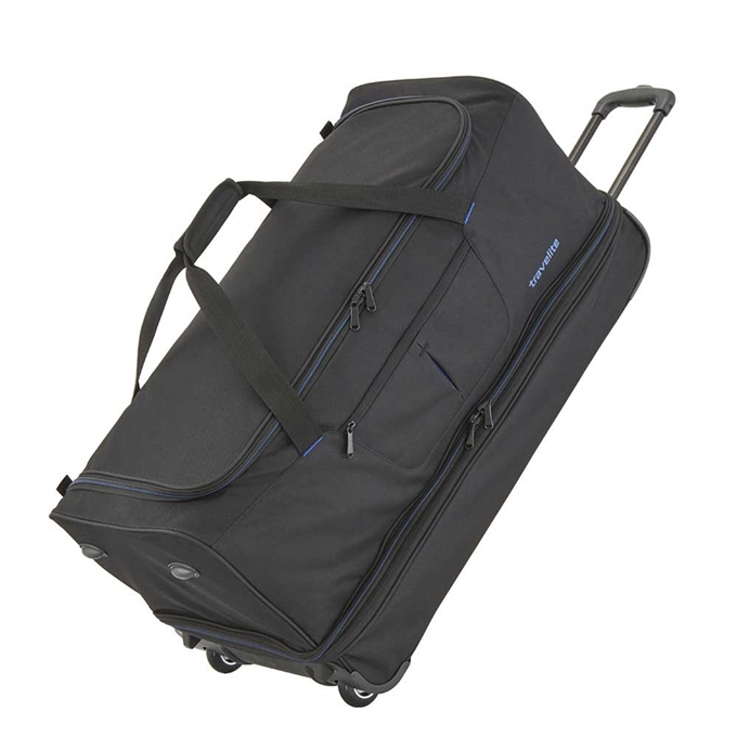 Travelite Basics Wheeled Duffle 70 Expandable black / blue
