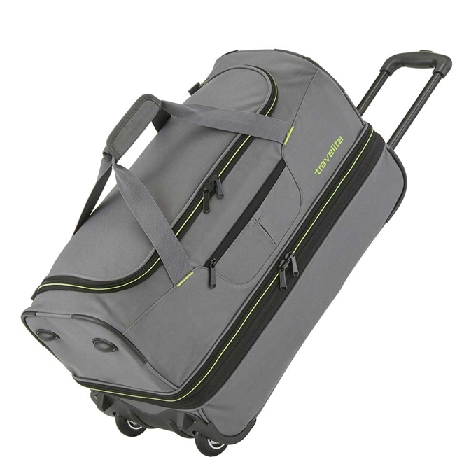 Travelite Basics Wheeled Duffle 70 Expandable grey / green