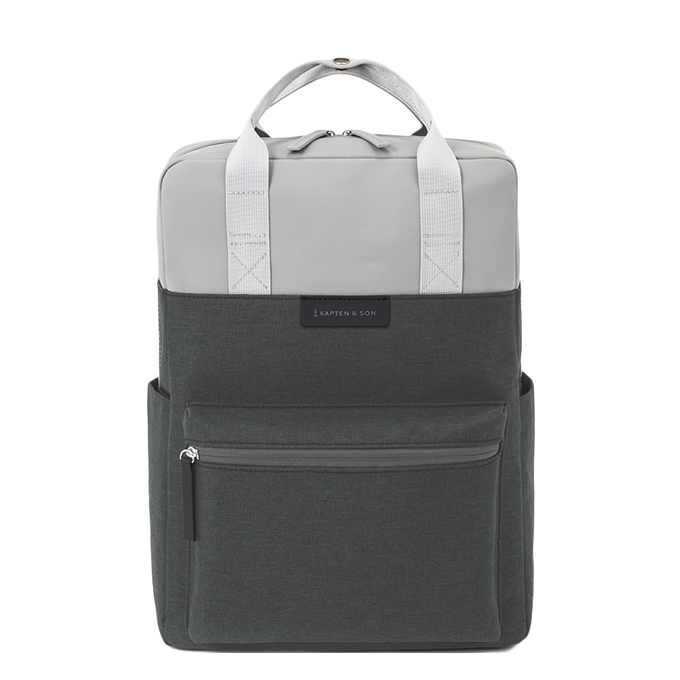 Kapten & Son Bergen Backpack grey black - 1