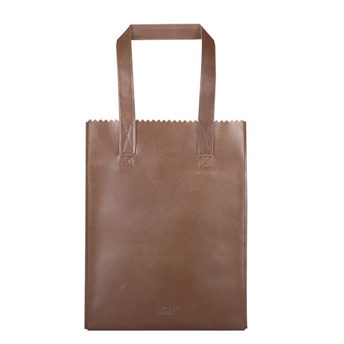 Myomy Paper Bag Long Handle Zip hunter waxy original