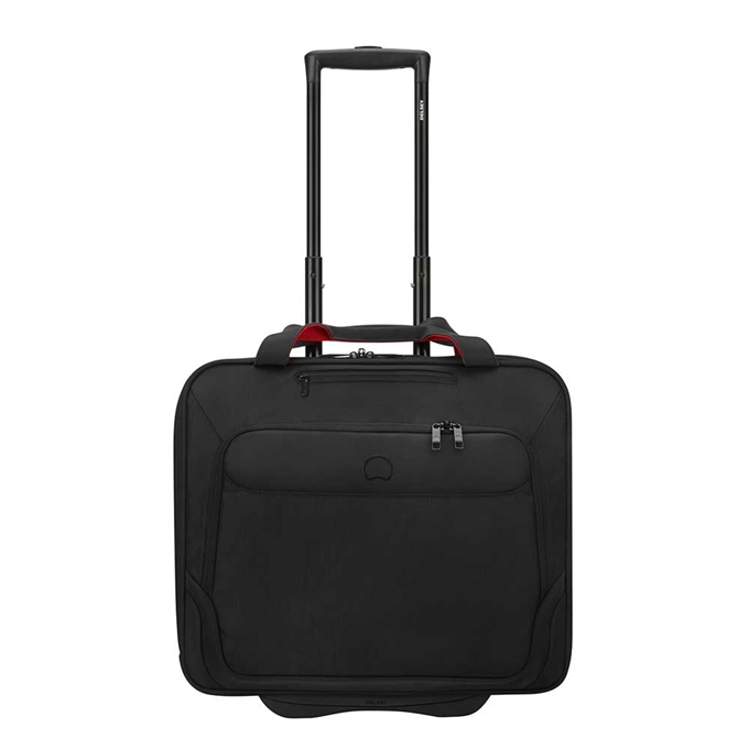"""Delsey Parvis Two Compartment Trolley Boardcase 17"""" black - 1"""
