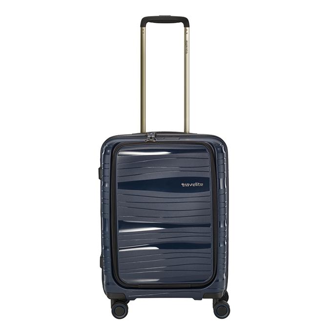 Travelite Motion 4w Trolley S Frontpocket navy - 1