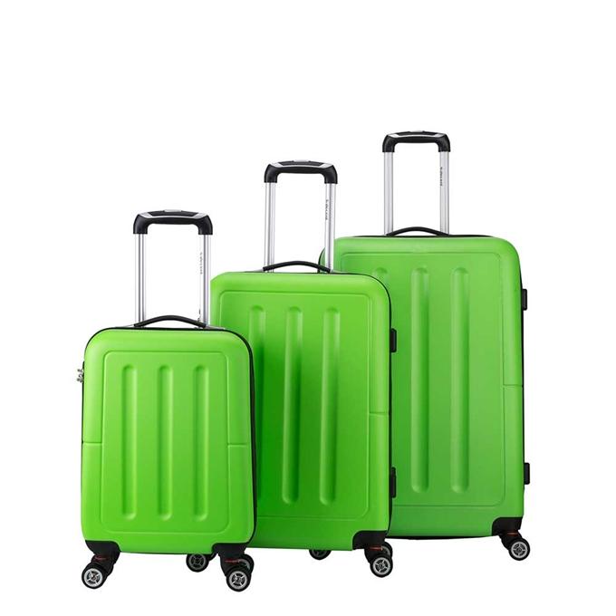 Decent Neon-Fix 3-delige Kofferset appelgroen - 1