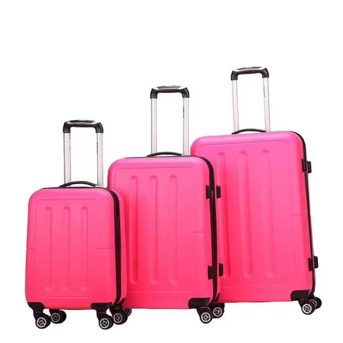 Decent Neon-Fix 3-delige Kofferset pink - 1