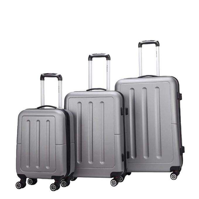 Decent Neon-Fix 3-delige Kofferset zilver - 1