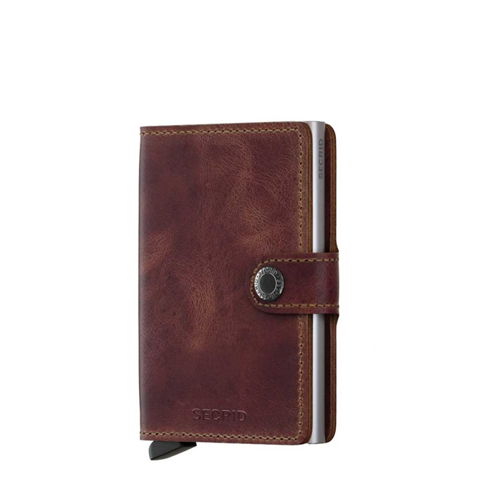 Secrid Miniwallet Portemonnee brown vintage leather