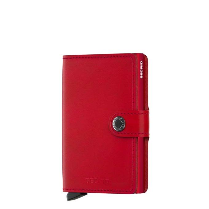 Secrid Miniwallet Portemonnee red leather - 1