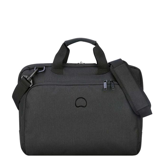 "Delsey Esplanade One Compartment Laptop Bag 15.6"" deep black - 1"
