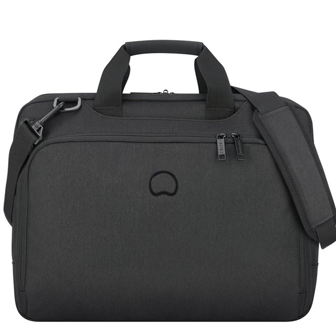 Delsey Esplanade Two Compartments Laptop Bag 15.6'' deep black - 1