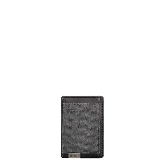 Tumi Alpha ID Lock Money Clip Card Case anthracite / black - 1