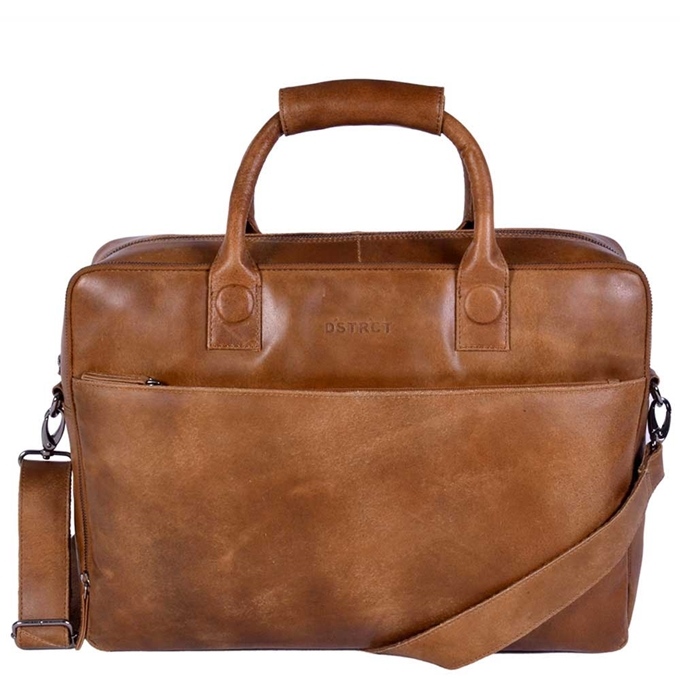 "DSTRCT Fletcher Street Workingbag 17"" cognac2"