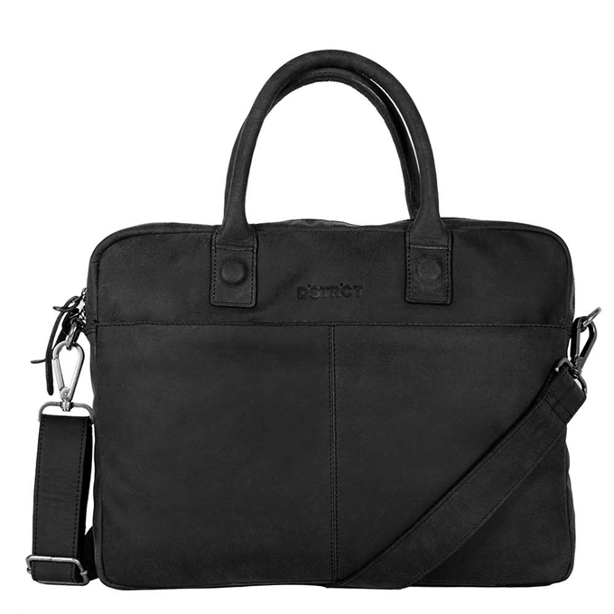 "DSTRCT Wall Street Laptopbag 14"" black - 1"