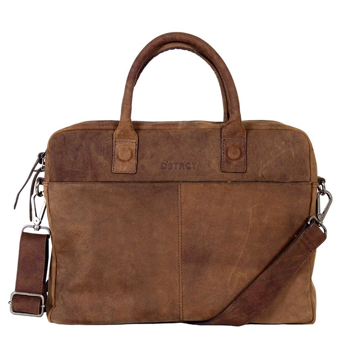 "DSTRCT Wall Street Laptopbag 14"" brown - 1"