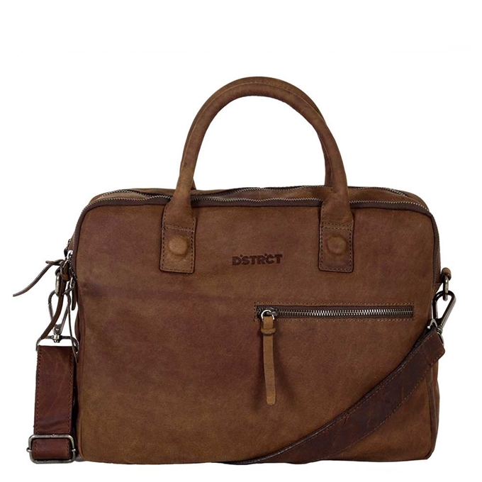"DSTRCT Wall Street Workingbag 14"" brown - 1"