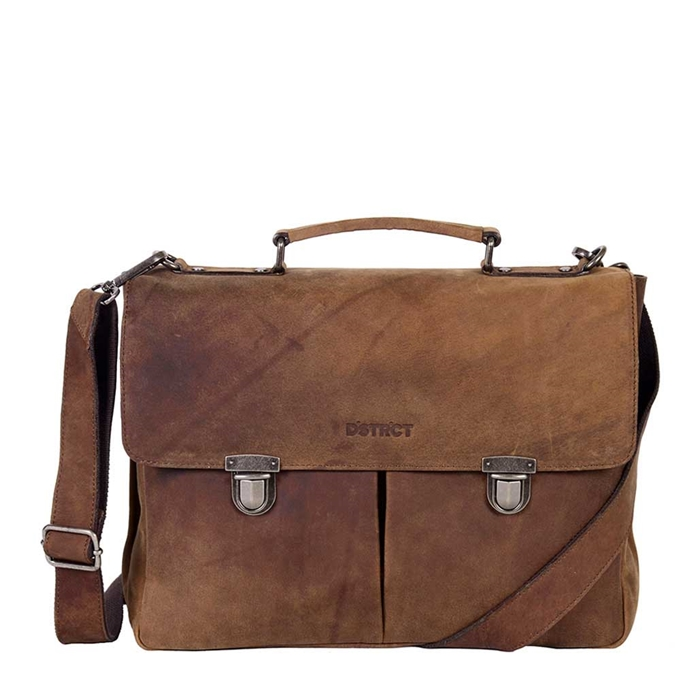 "DSTRCT Wall Street Workingbag 15"" brown2"