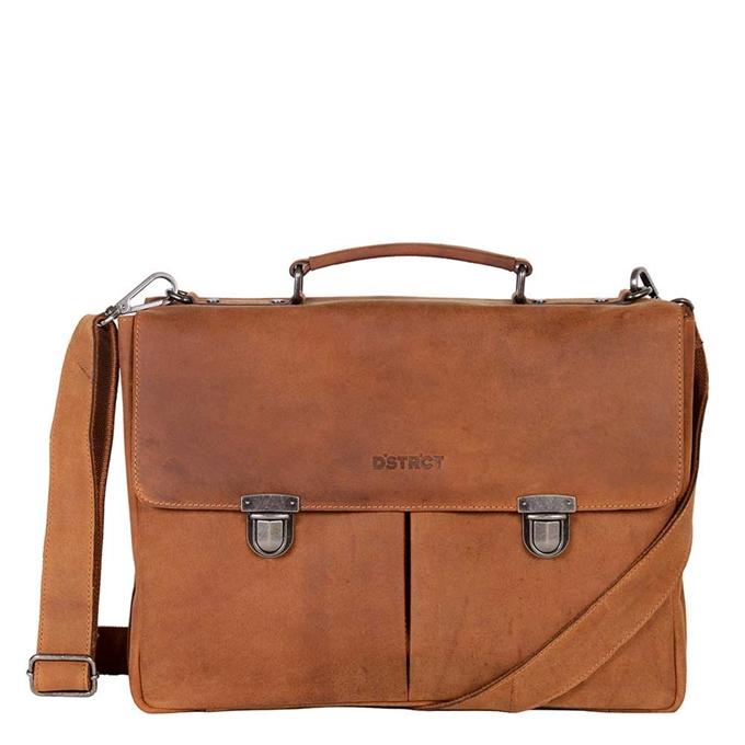 "DSTRCT Wall Street Workingbag 15"" cognac2 - 1"