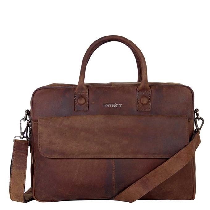 "DSTRCT Wall Street Workingbag 16"" brown - 1"