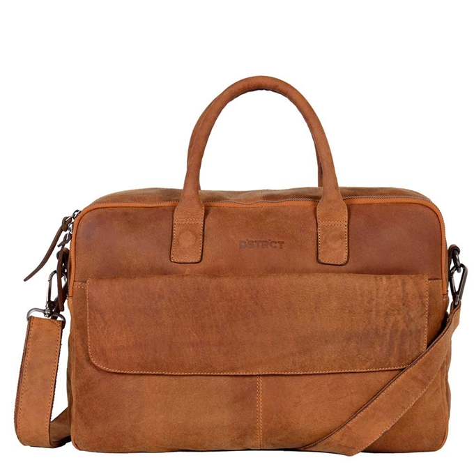"DSTRCT Wall Street Workingbag 16"" cognac"