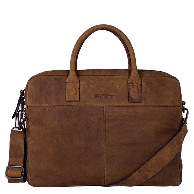 "DSTRCT Wall Street Workingbag 15"" brown - 1"