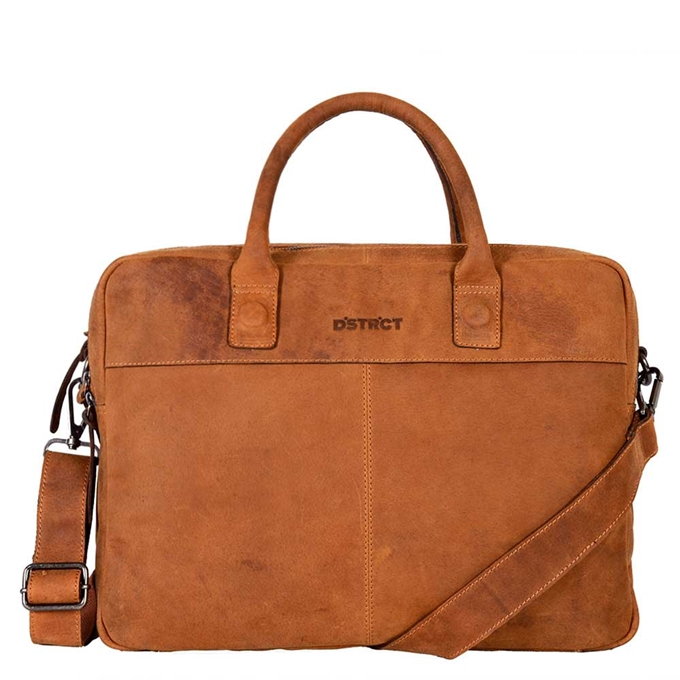 "DSTRCT Wall Street Workingbag 15"" cognac - 1"