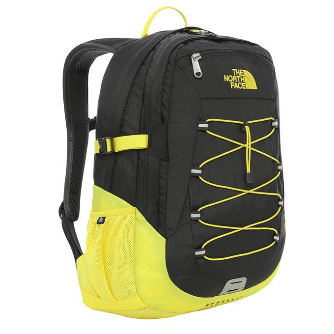 The North Face Borealis Classic Backpack asphalt grey / tnf lemon