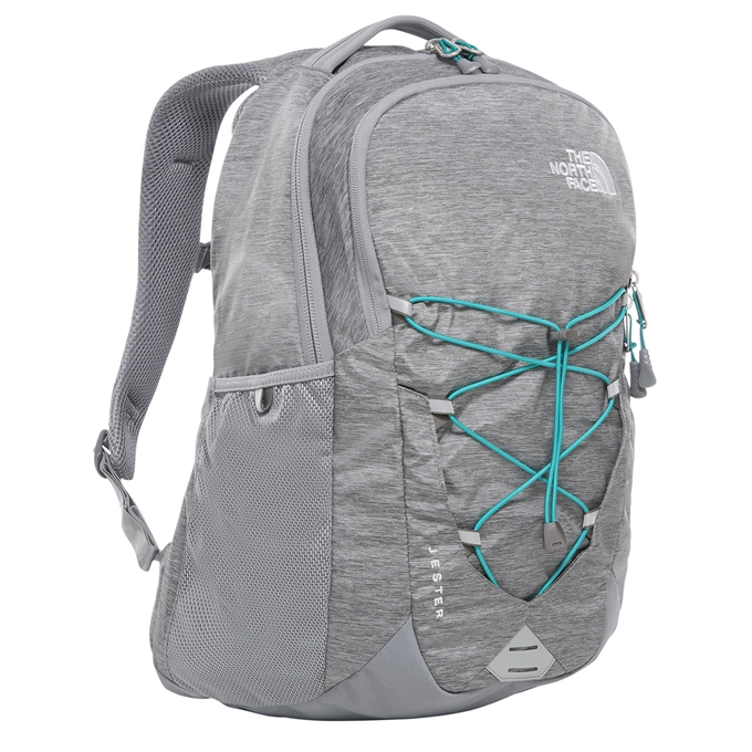 The North Face Jester Backpack mid grey dark heather / fanfare green