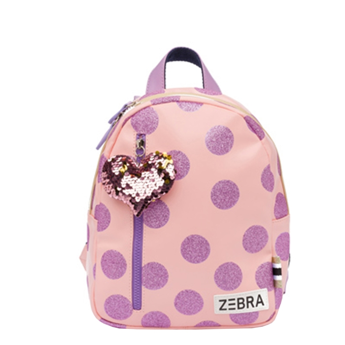 Zebra Trends Girls Rugzak S glitterdots pink