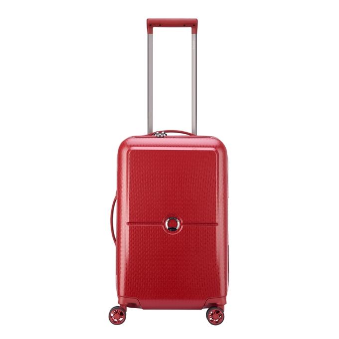 Delsey Turenne 4 Wheel Trolley 55 rouge