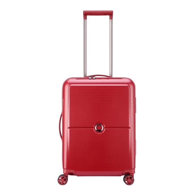 Delsey Turenne 4 Wheel Trolley 55 rouge2