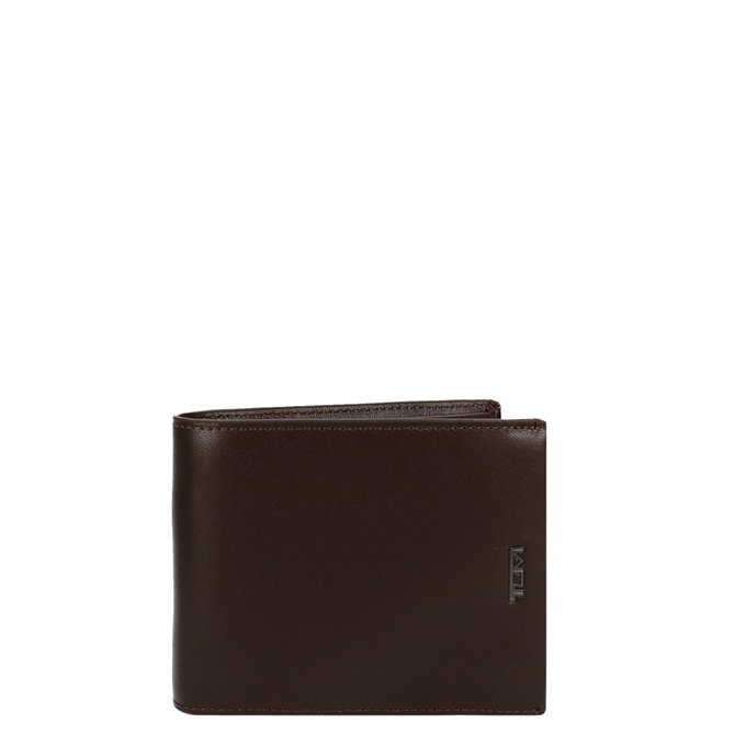 Tumi Nassau SLG Global Wallet W/ Coin Pocket brown smooth
