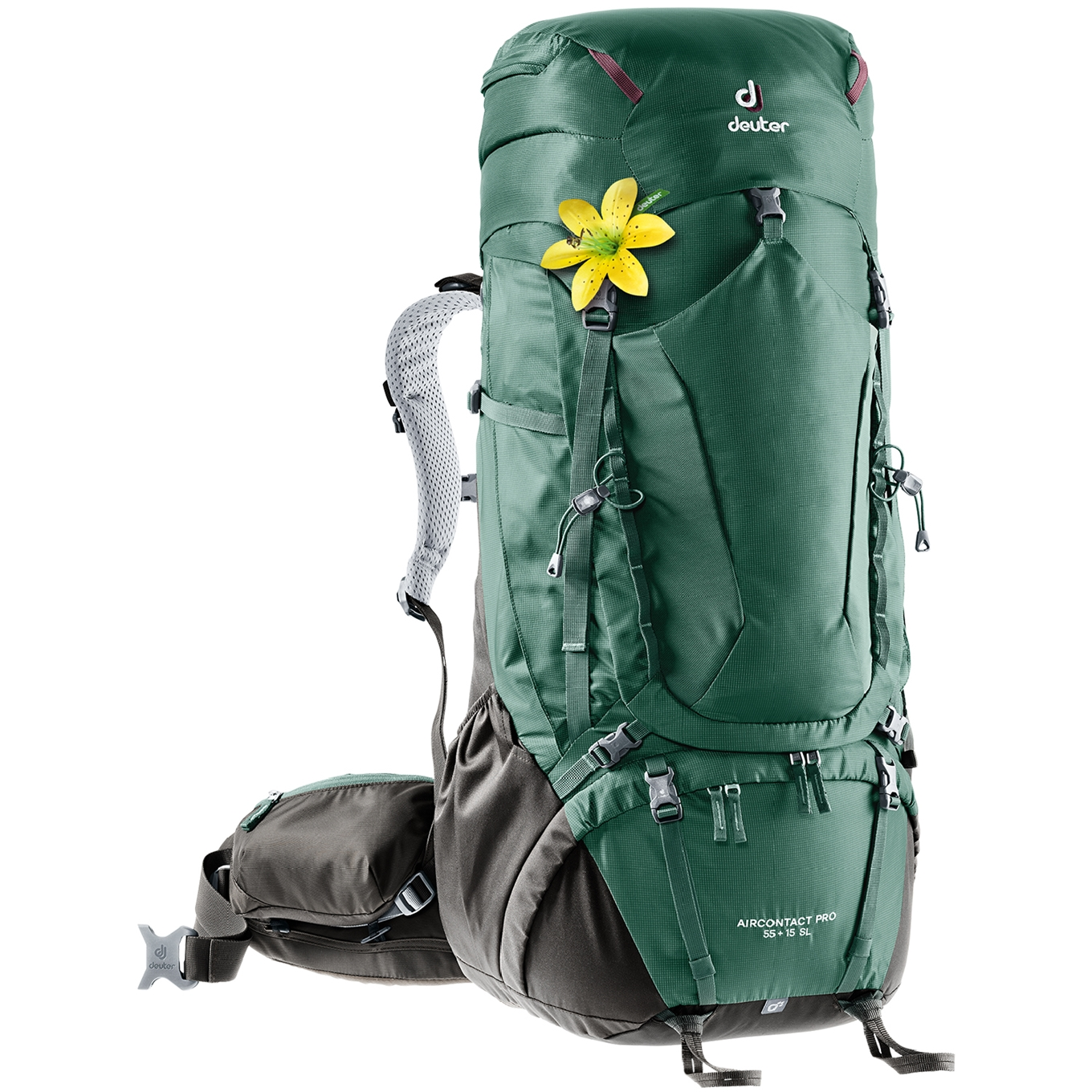 Deuter Aircontact Pro 55 + 15 SL seagreen/coffee backpack <br/></noscript><img class=