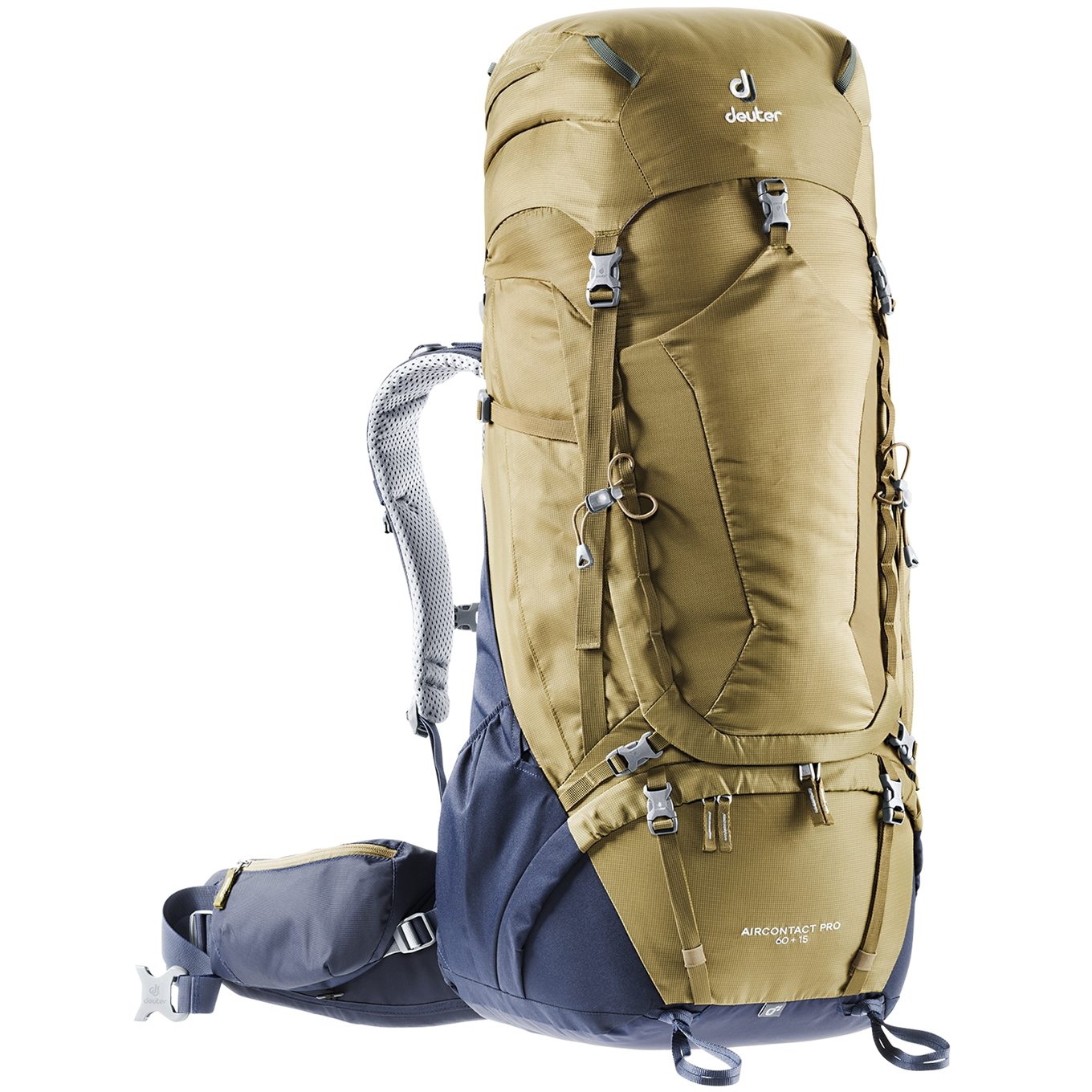 Deuter Aircontact Pro 60 + 15 clay/navy backpack <br/></noscript><img class=