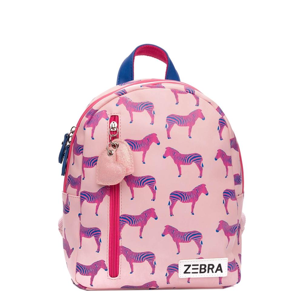Zebra Trends Girls Rugzak S Zebra pink Kindertas