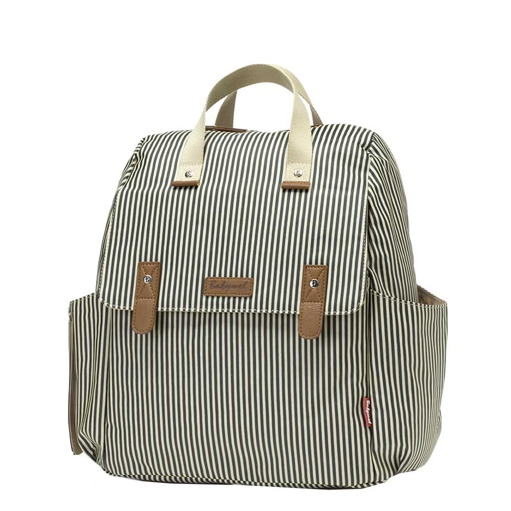 Babymel Robyn Convertible Backpack navy stripe - 1