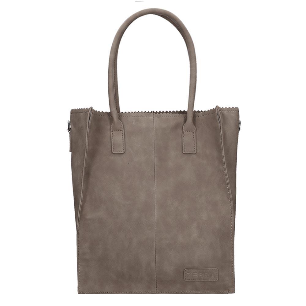 Zebra Trends Natural Bag Rosa Shopper grey