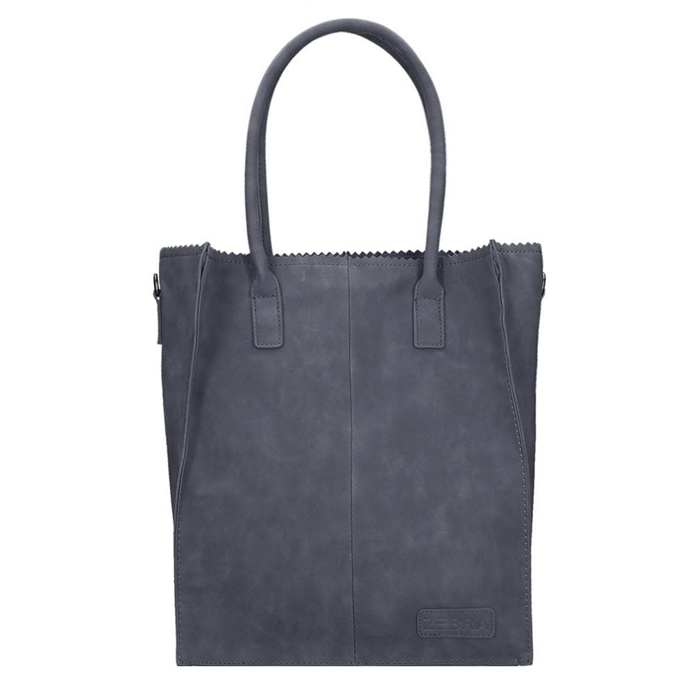 Zebra Trends Natural Bag Rosa Shopper navy