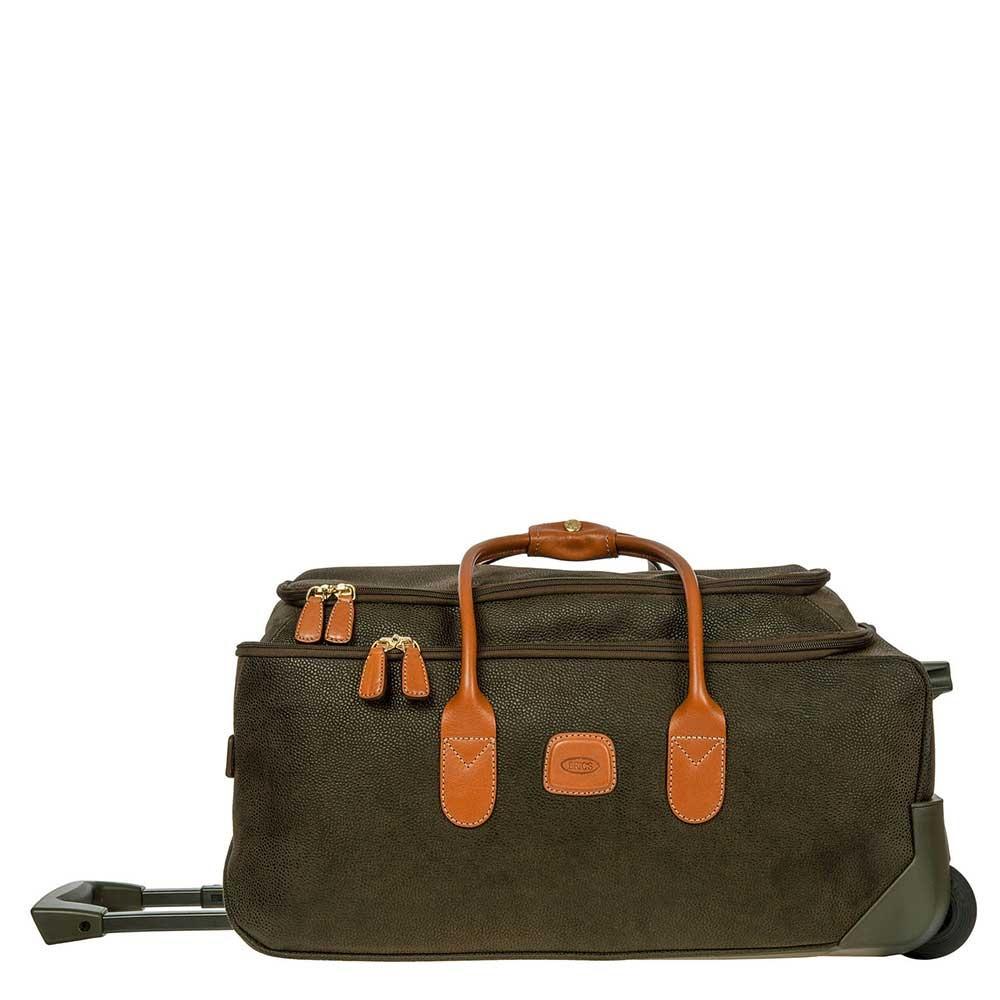 Bric&apos;s Life Holdall Reistas met Wielen 55 olive Handbagage koffer Trolley <br/></noscript><img class=