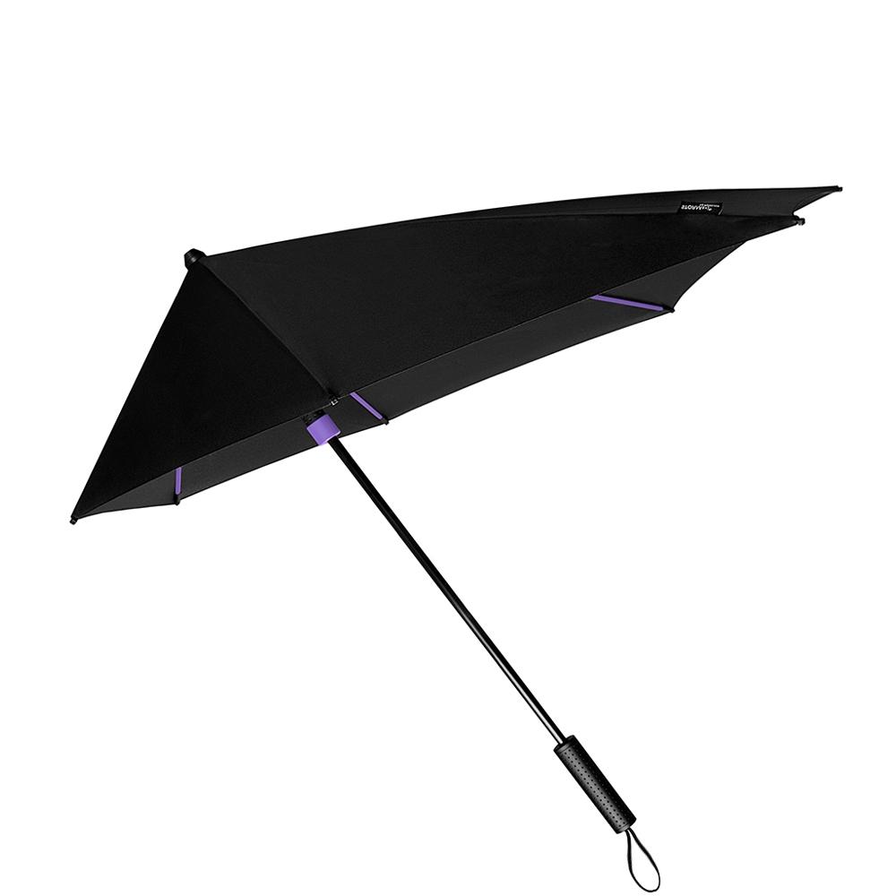 Impliva STORMaxi Aerodynamische Stormparaplu Special Edition zwart - paars (Storm) Paraplu