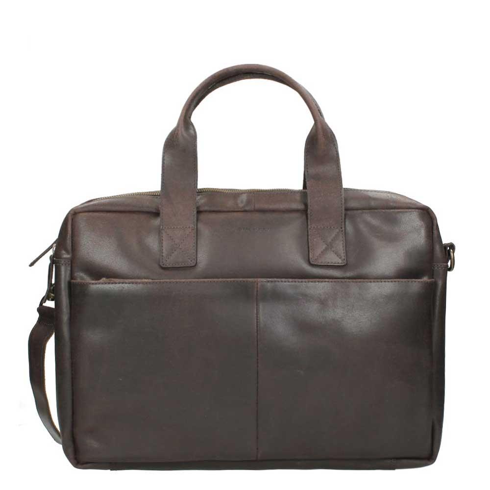 Burkely Mens Bag Schoudertas dark brown