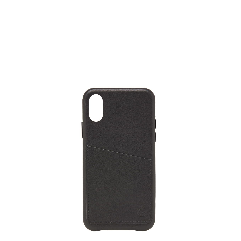 Castelijn & Beerens Nappa X Back Cover Wallet iPhone X + XS black Telefoonhoesje