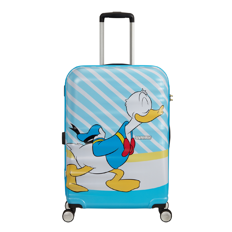 American Tourister Wavebreaker Disney Spinner 67 donald blue kiss Harde Koffer <br/></noscript><img class=